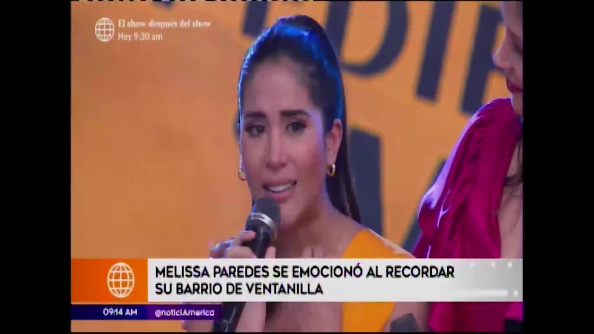 En boca de todos: Melissa Paredes lloró al recordar su infancia en Ventanilla
