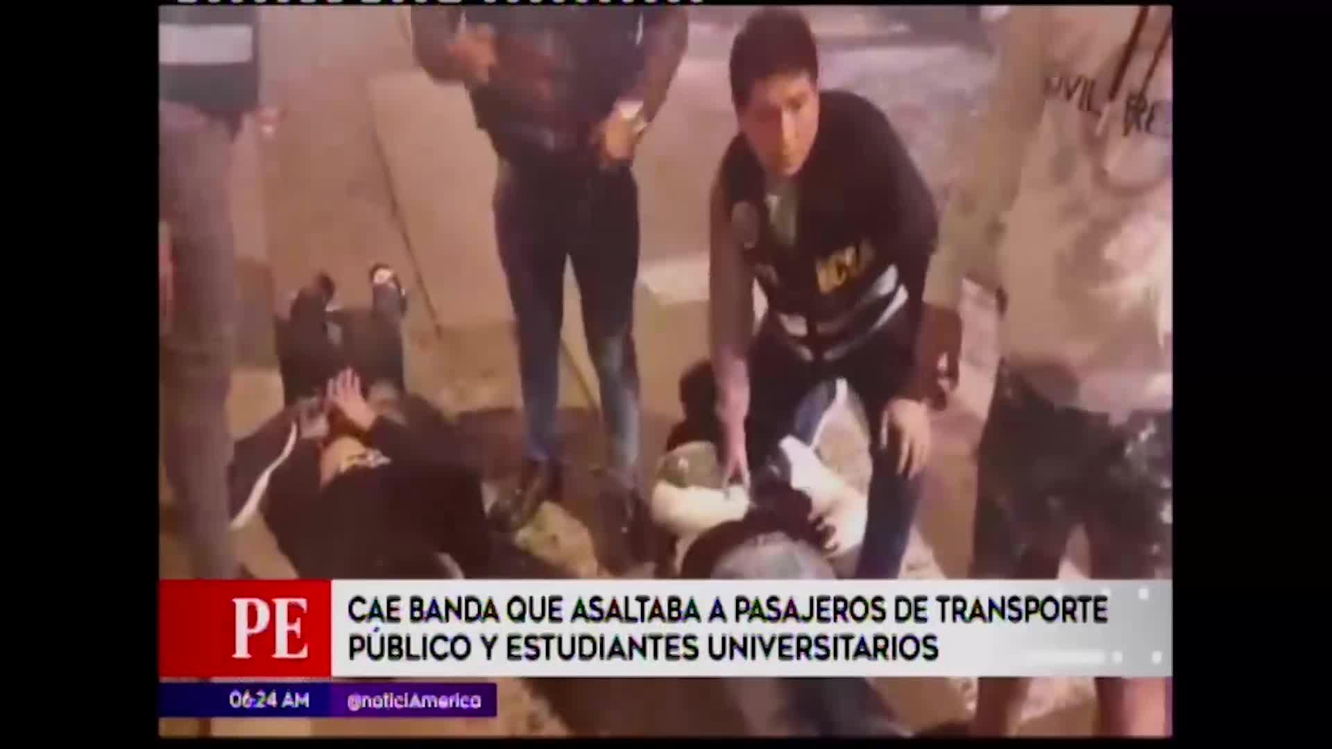 Cercado de Lima: Capturan banda que asaltaba en buses de transporte público