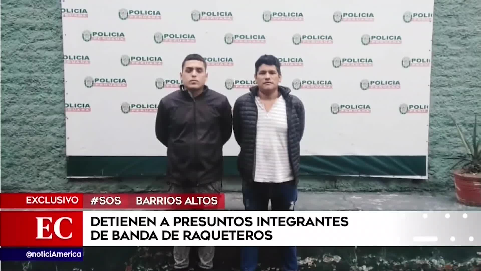 Barrios Altos: banda de raqueteros son capturados por la policía
