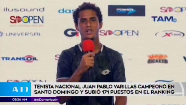 Juan Pablo Varillas escala 171 puestos en ránking ATP