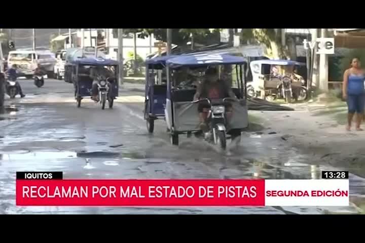 Iquitos: transportistas reclaman mal estado de pistas
