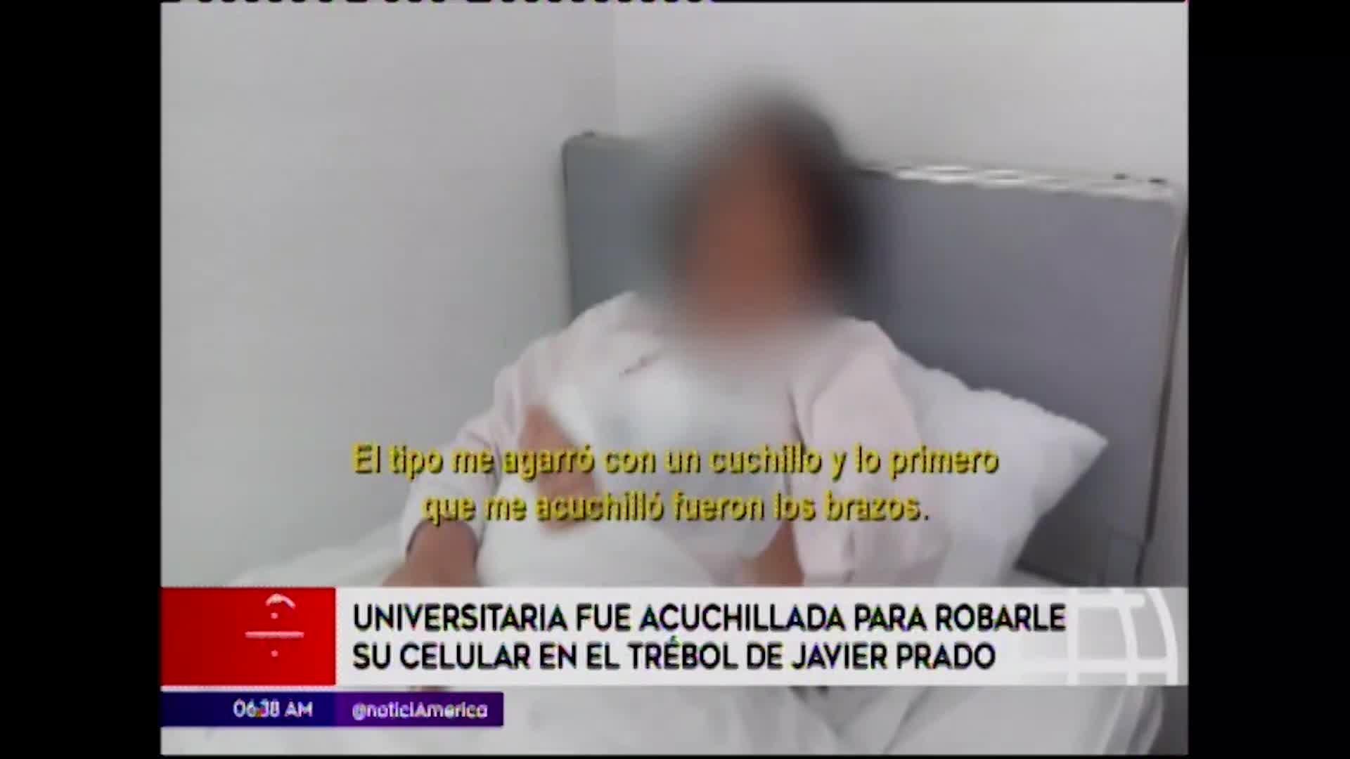 Javier Prado: joven es acuchillada tras sufrir robo en el puente Trébol
