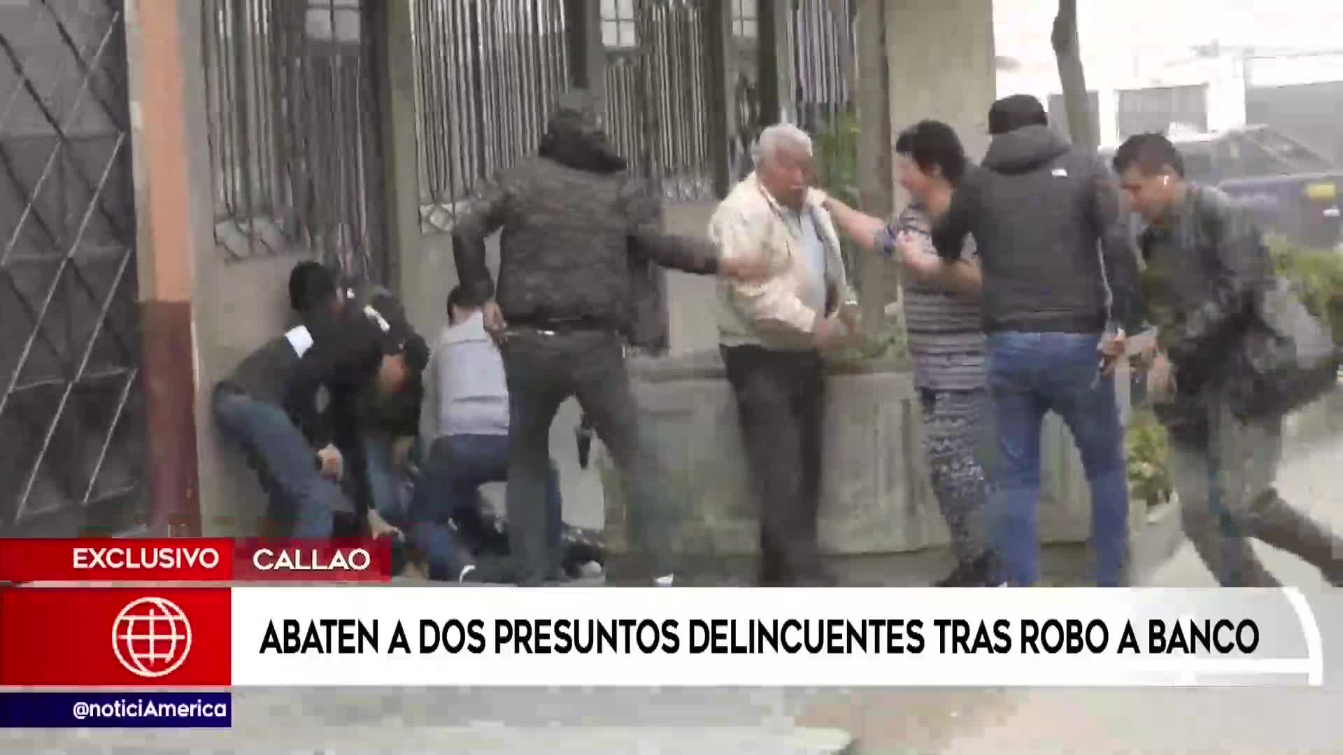 Callao: Robo frustrado a agencia bancaria dejó dos fallecidos