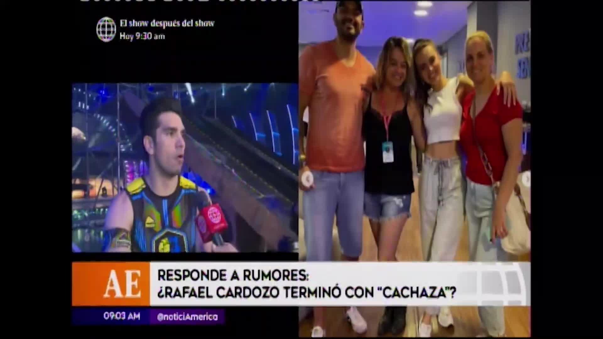 Esto es guerra: Rafael Cardozo niega separación de Cachaza