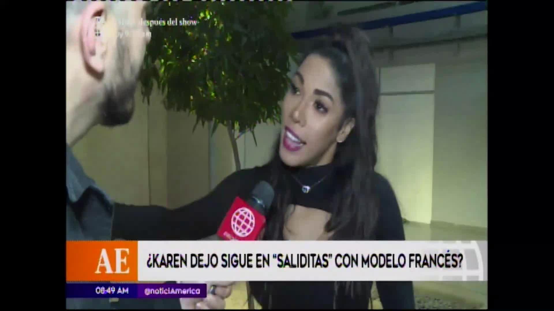 EEG: Karen Dejo aclara rumores sobre supuesto romance con modelo