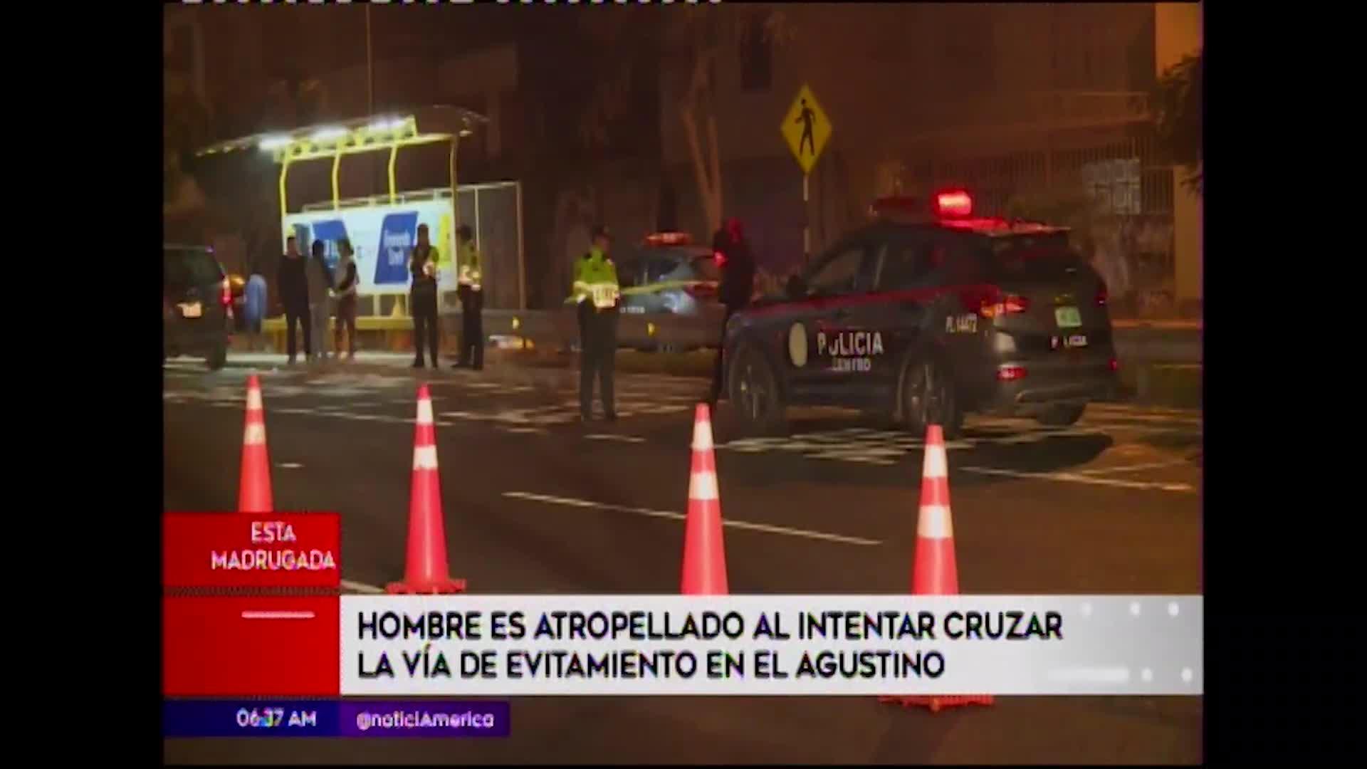 Hombre muere atropellado por transporte público al intentar cruzar Vía Evitamiento