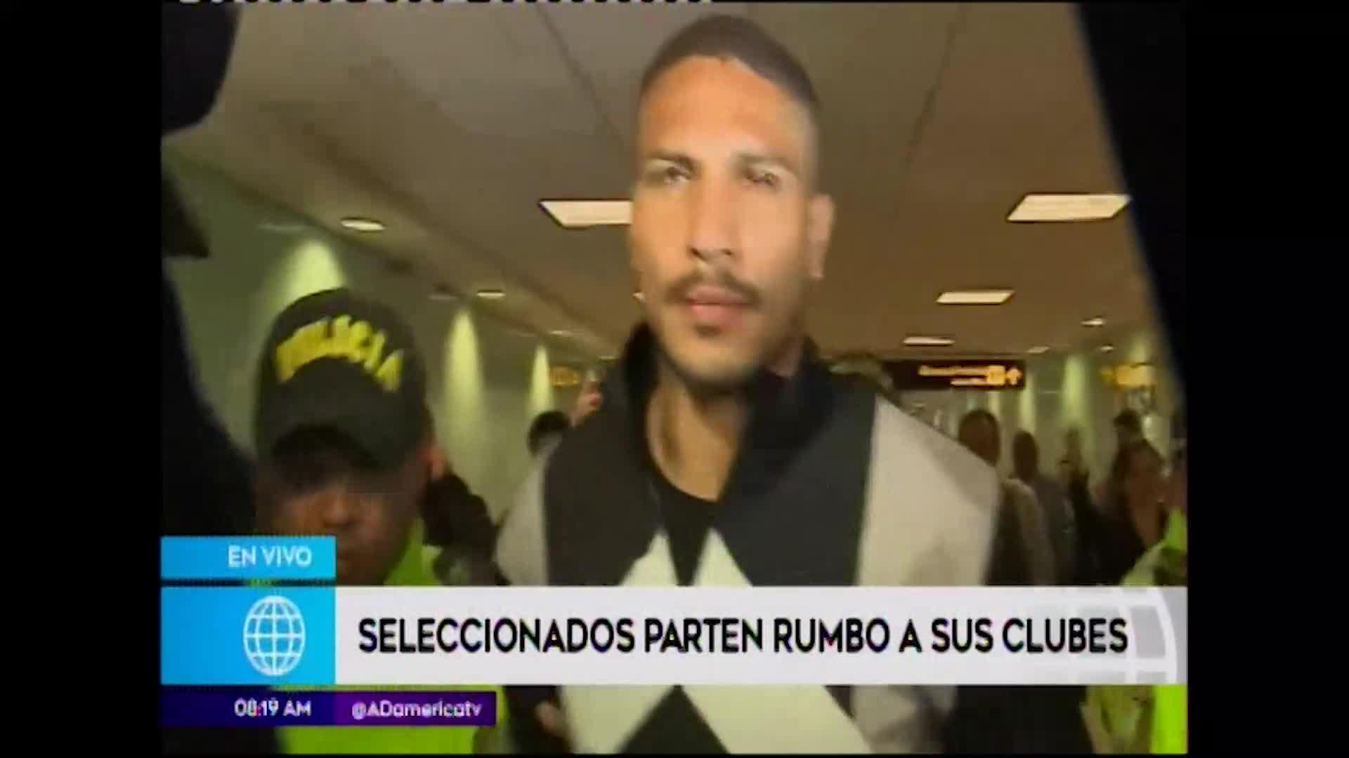 Paolo Guerrero, Luis Abram y Carlos Zambrano partieron a sus clubes