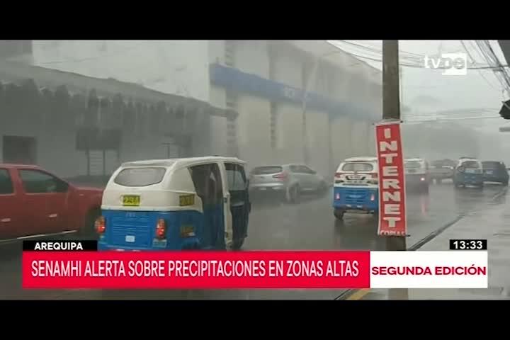 Arequipa: Senamhi pronostica lluvias y granizada en zonas altas