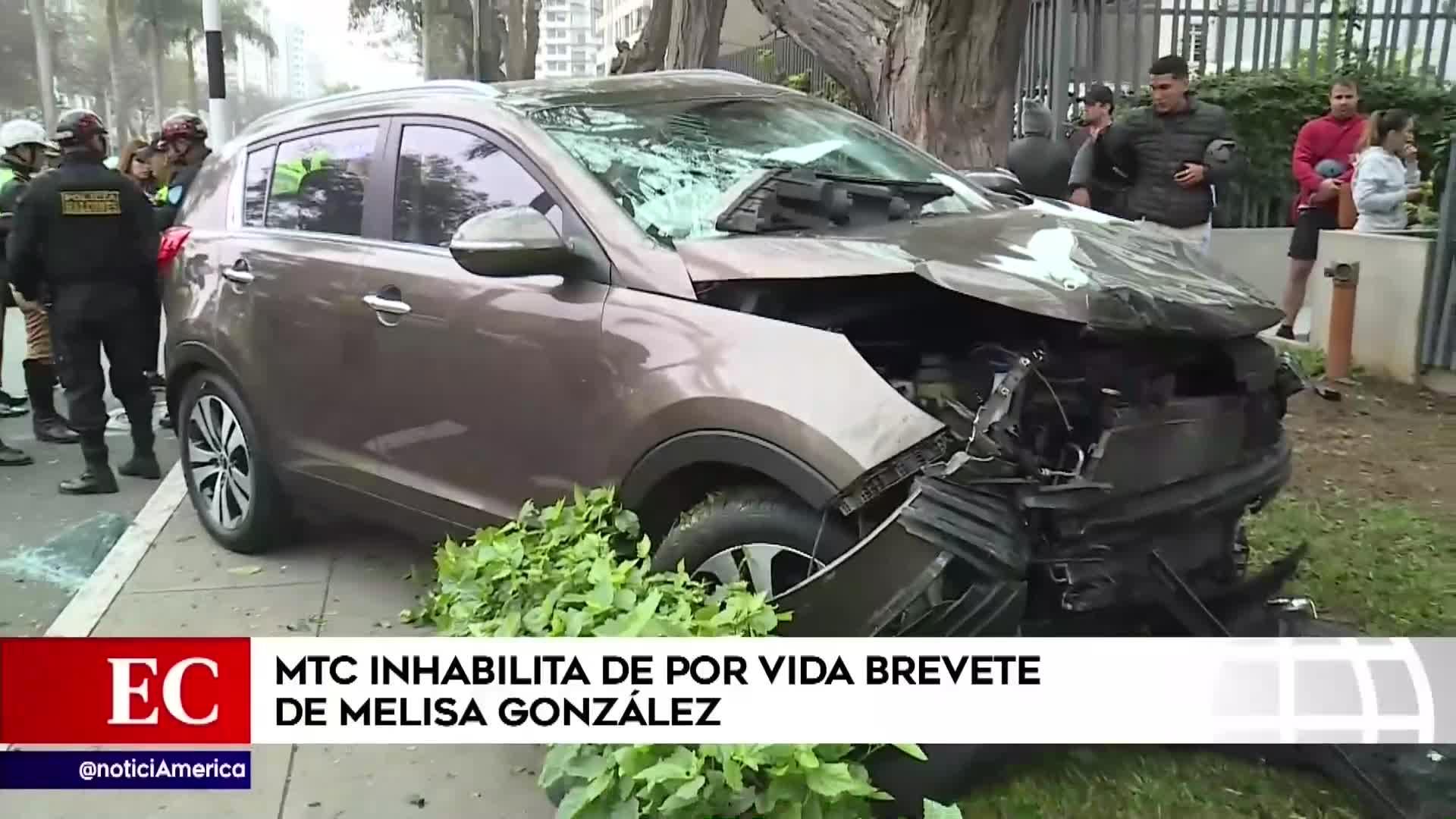MTC inhabilitará de por vida brevete de Melisa González Gagliuffi