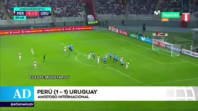 Perú vs Uruguay: selección peruana empató 1 -1 con 'charruas' en el Estadio Nacional