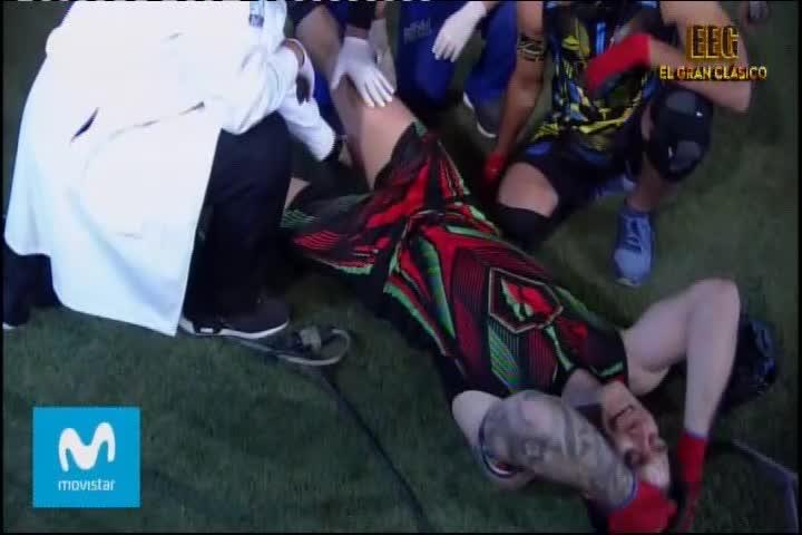 EEG: Pancho sufre terrible lesión en plena competencia