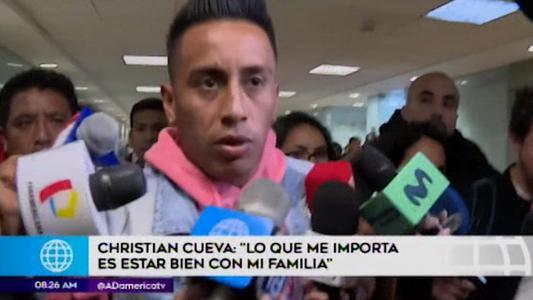 """Christian Cueva: """"Nadie hace las cosas perfecto"""""""