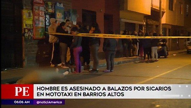 Cercado de Lima: hombre es asesinado en la puerta de su casa