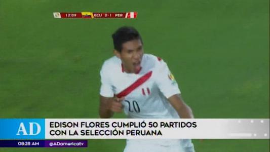 Edison Flores cumple cincuenta partidos con la selección