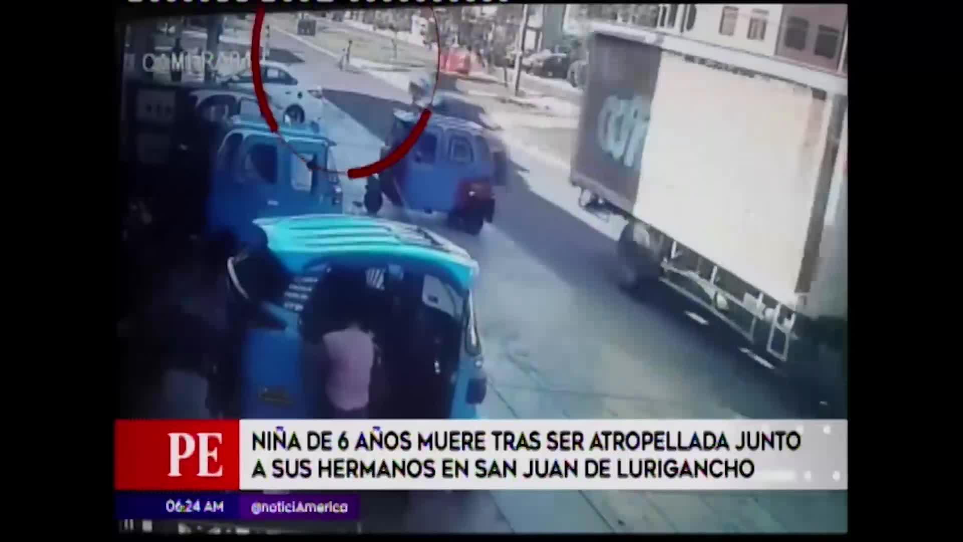 San Juan de Lurigancho:  Tres menores fueron atropellados por un auto
