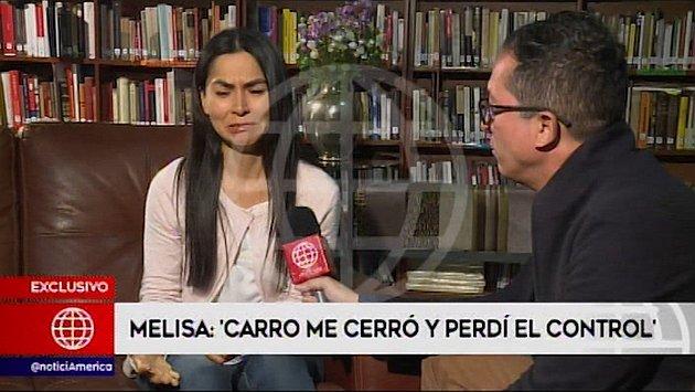 Melisa González Gagliuffi afirma que no estuvo maquillándose ni con el celular