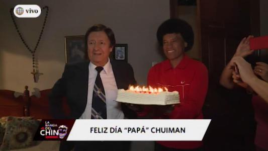Adolfo Chuiman festeja cumpleaños en medio de grabaciones