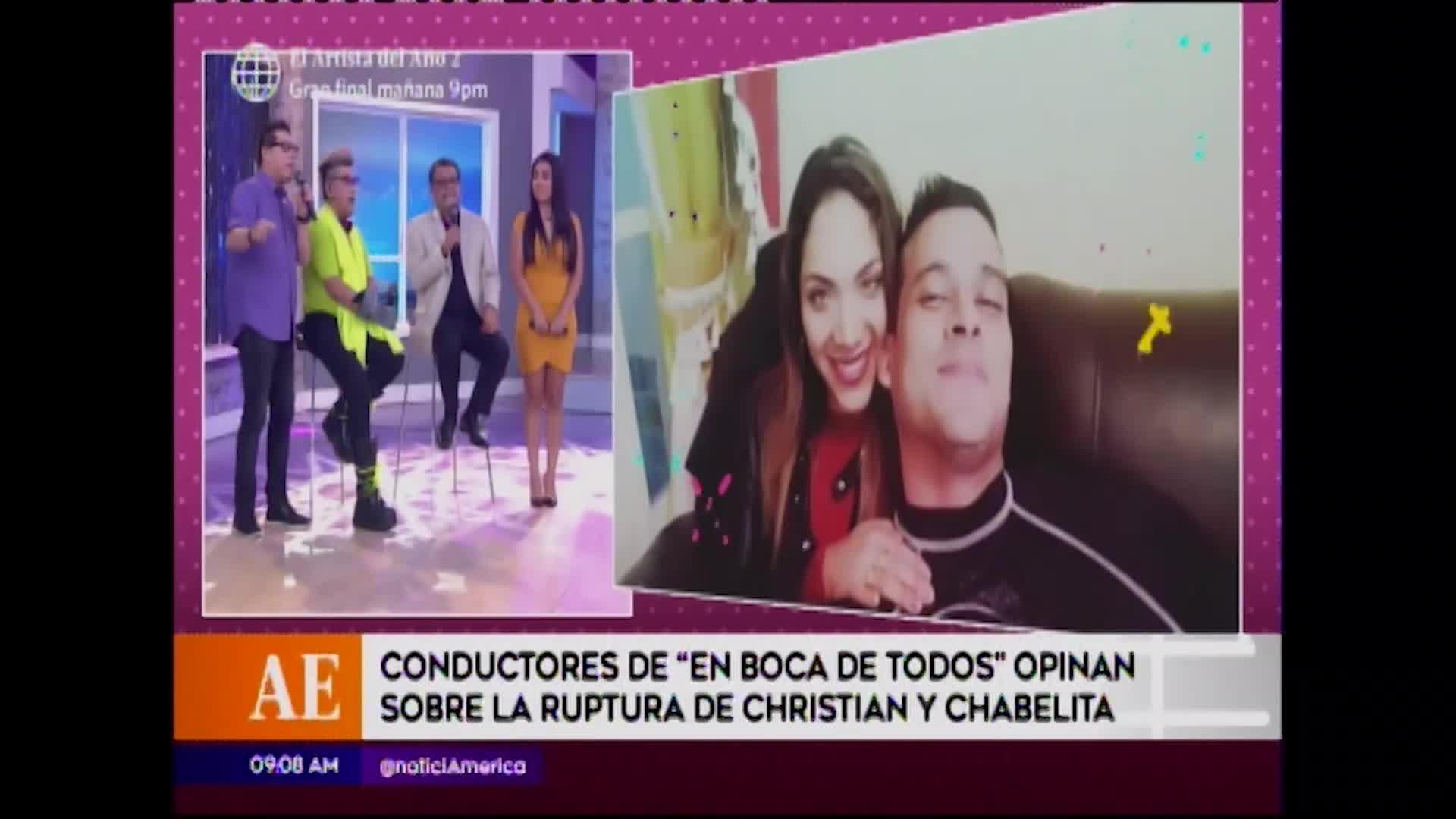 Conductores opinan sobre la separación de Christian Dominguez e Isabel Acevedo