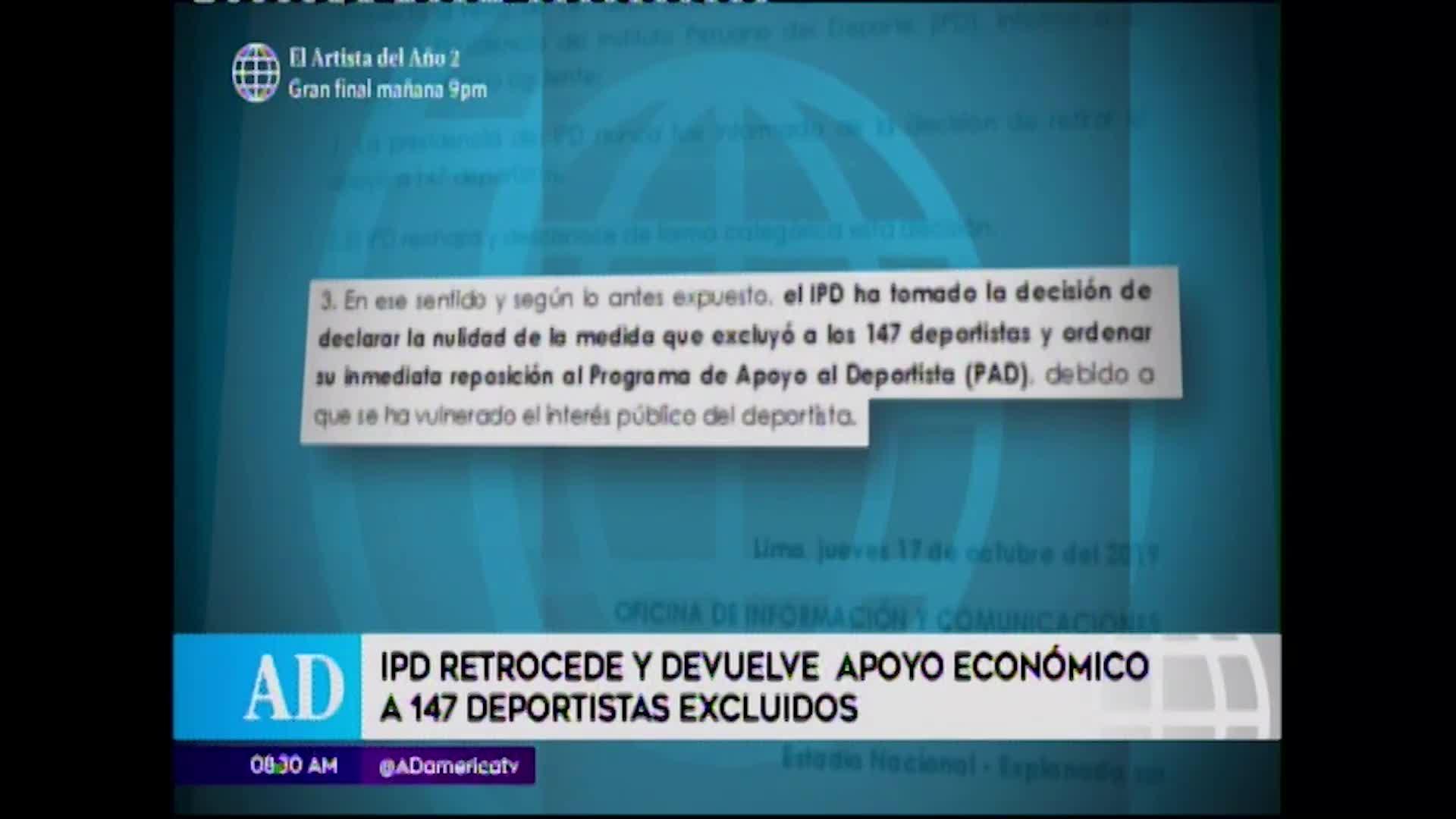 IPD devuelve apoyo económico a deportistas peruanos