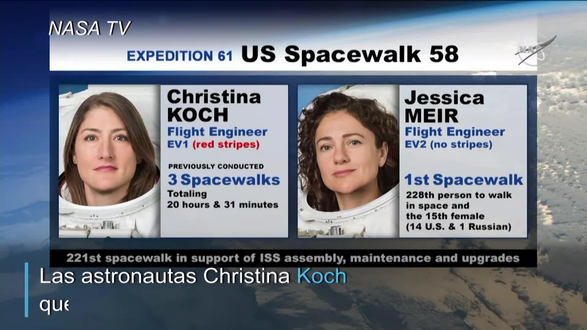 Dos astronautas mujeres en el espacio: la histórica caminata espacial de la NASA