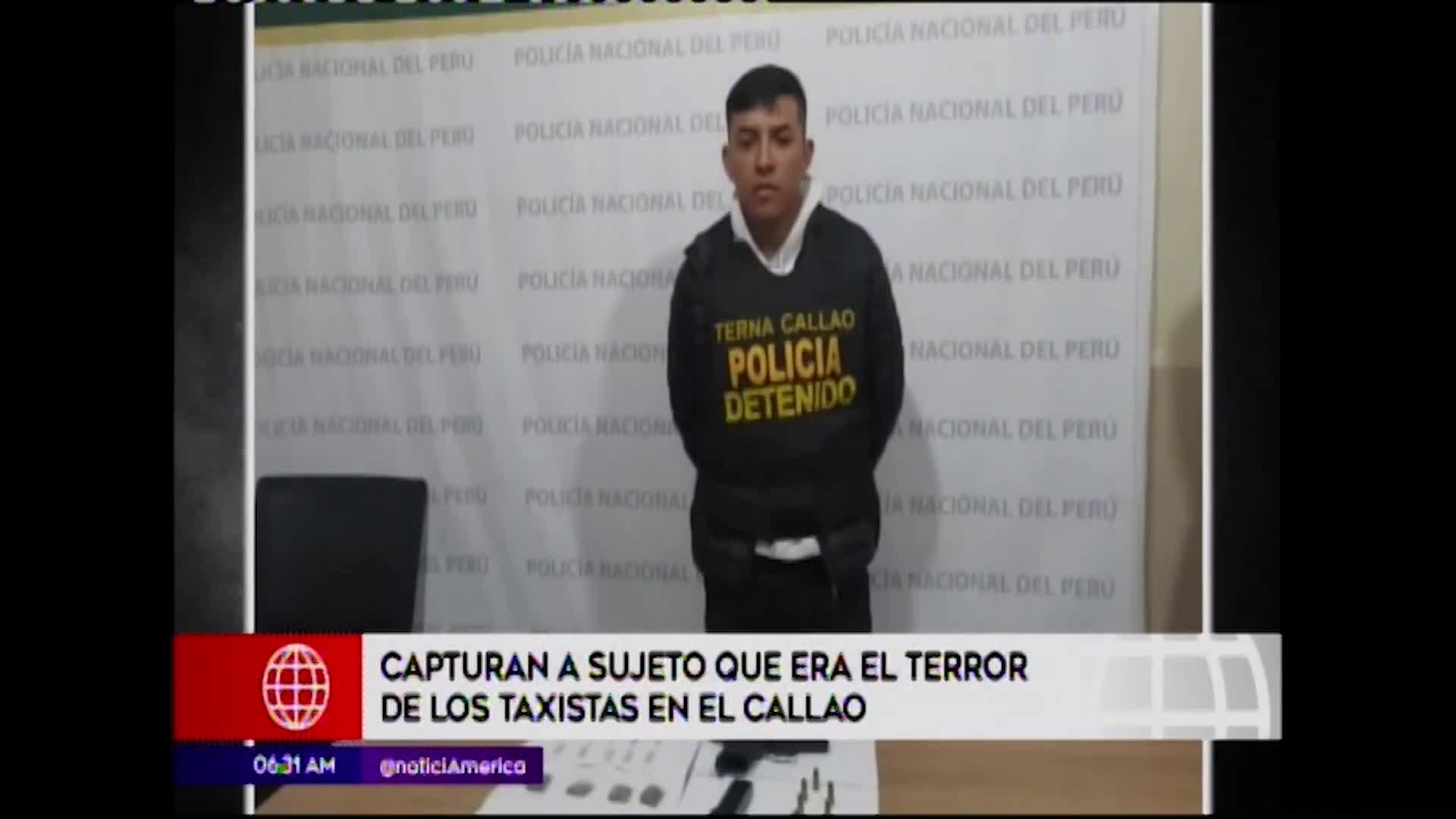 Callao: detienen a sujeto que asaltaba a taxistas con arma de fuego