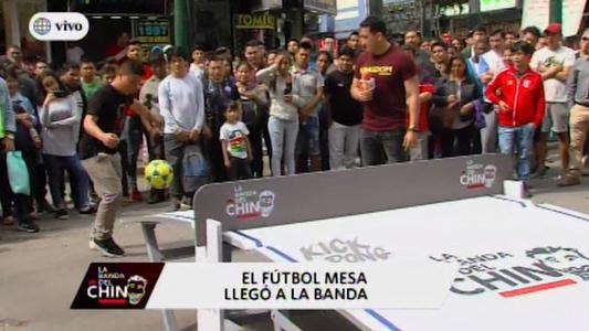 El fútbol mesa llegó a las calles de Gamarra