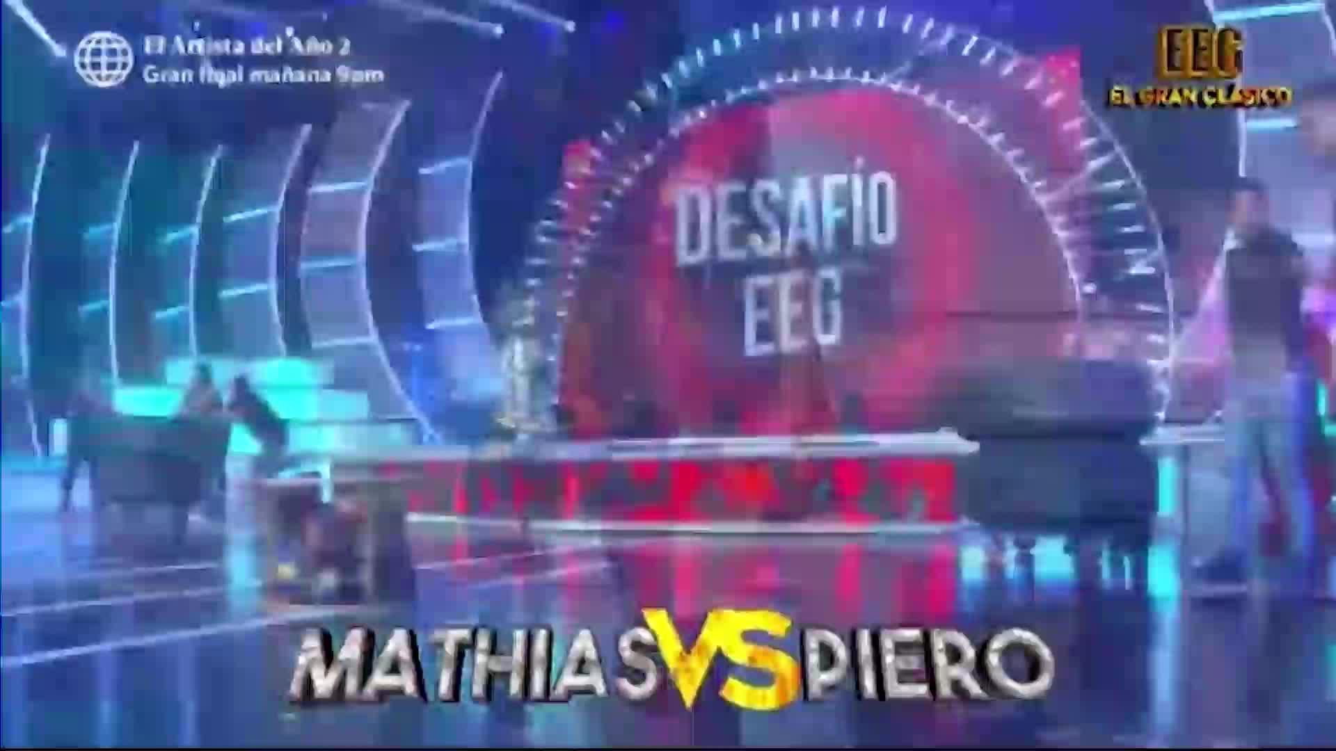 Esto es guerra: Gian Piero Díaz y Mathías Brivio se midieron en un 'Desafío EEG'