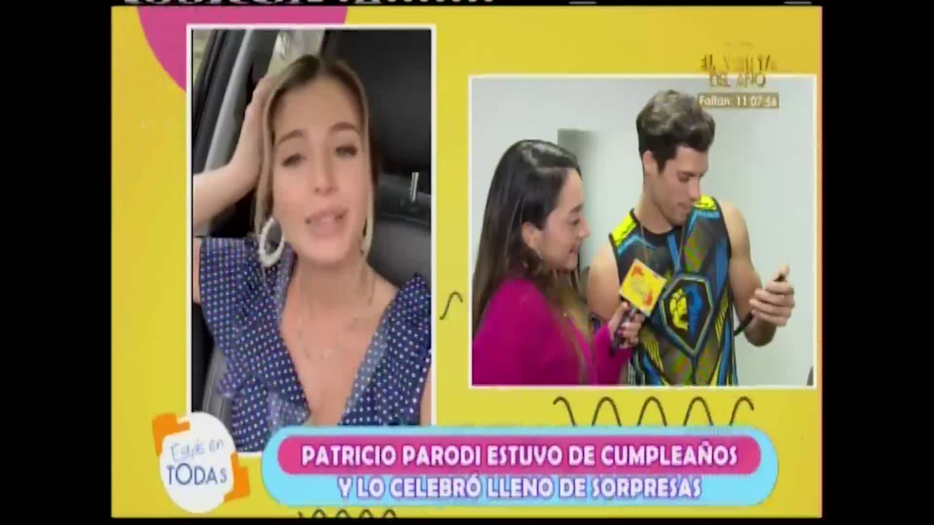 Flavia Laos sorprendió así a Patricio Parodi durante su cumpleaños