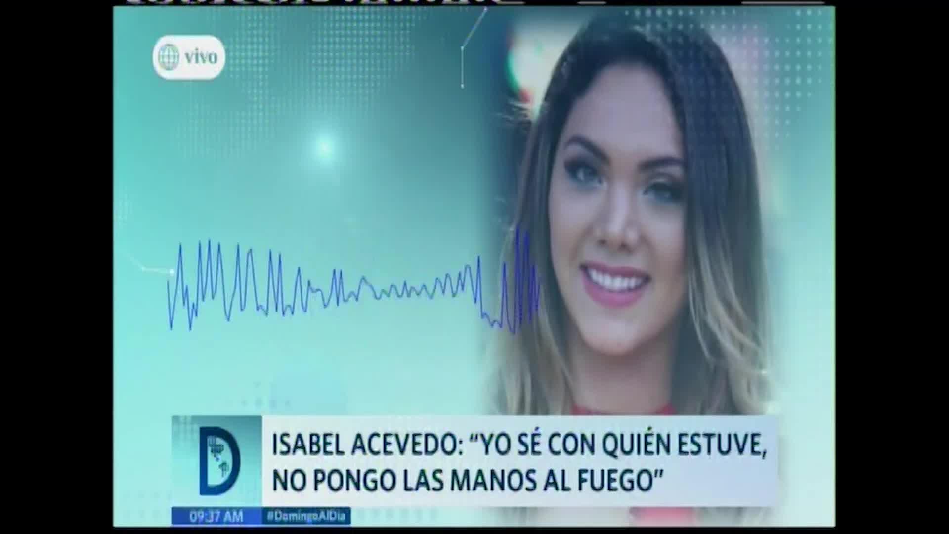 """Isabel Acevedo: """"Quiero ver que más sale"""""""