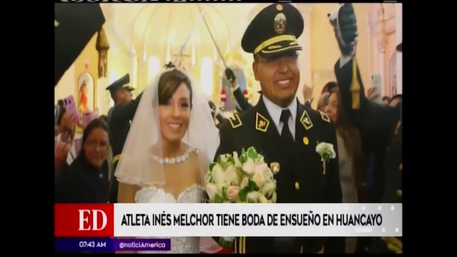 La atleta Inés Melchor se casó en Huancayo