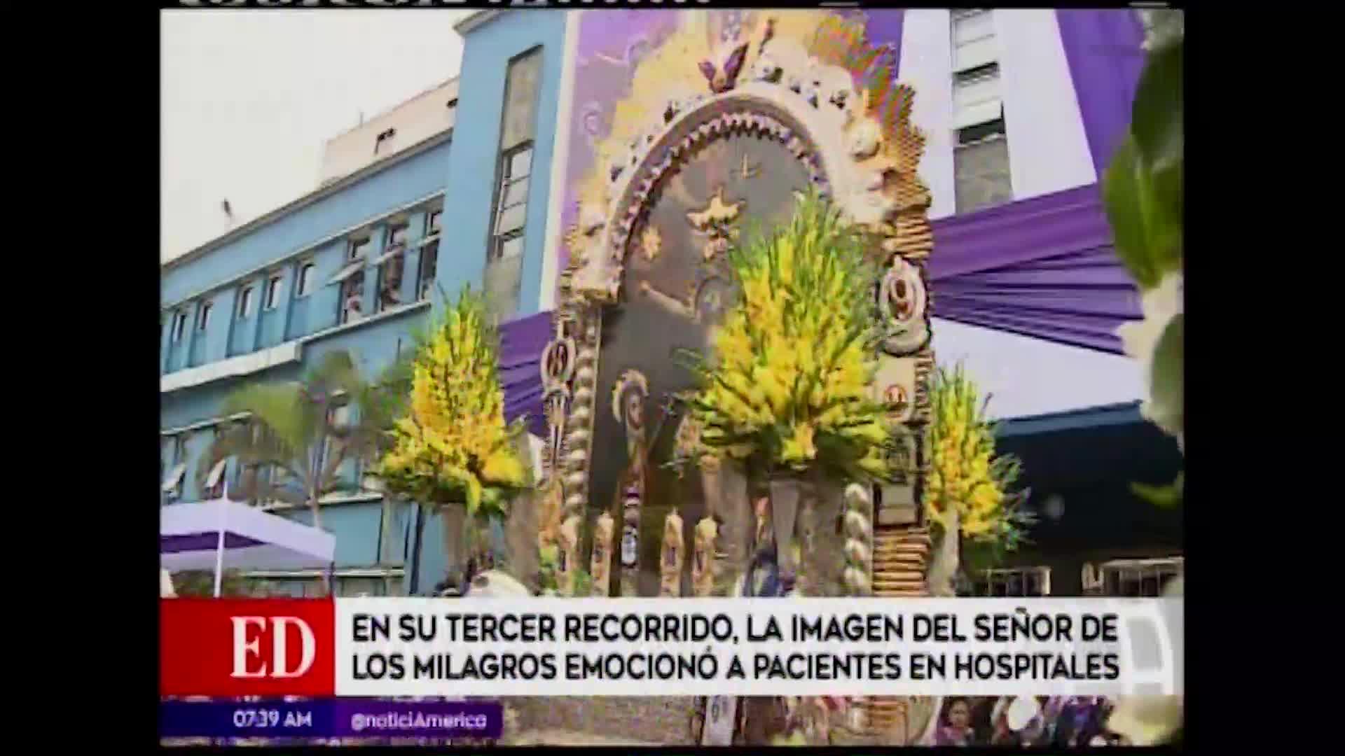 Imagen del Señor de los Milagros visitó hospitales de Lima