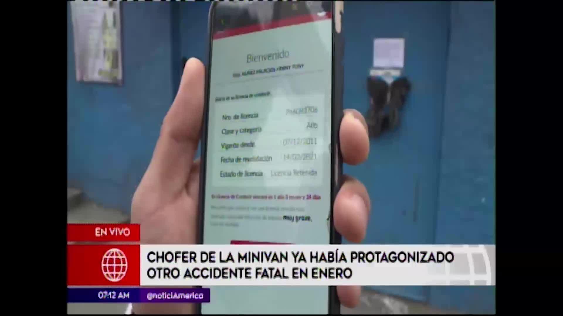 Huarochirí: chofer de minivan tenía el brevete suspendido