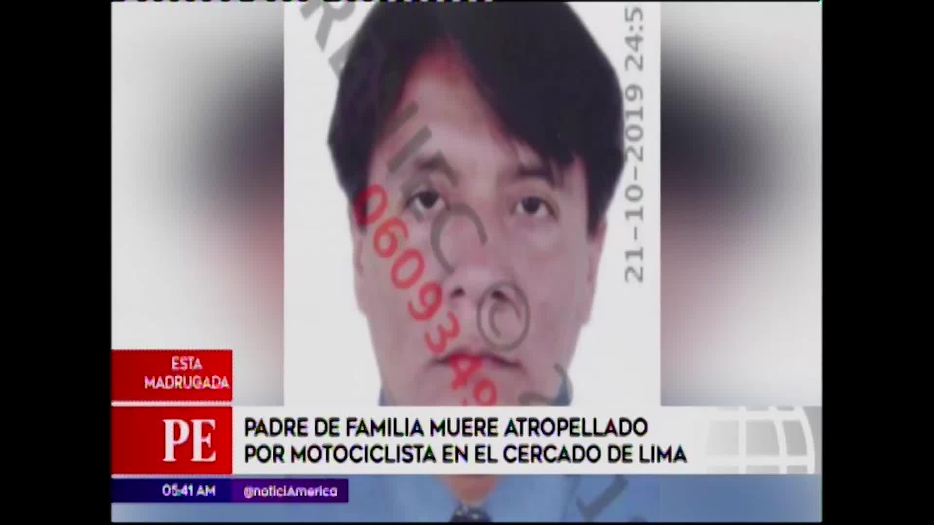 Cercado de Lima: hombre fallece tras ser embestido por motociclista