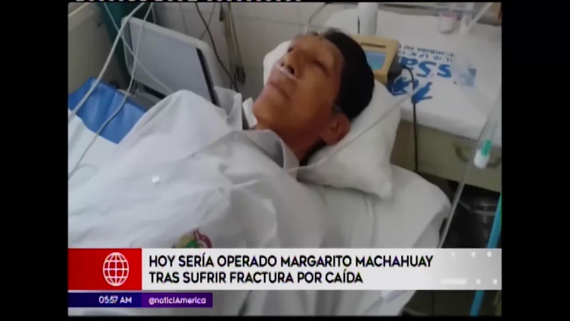 Lima: Margarito Machahuay será operado luego de sufrir aparatosa caída