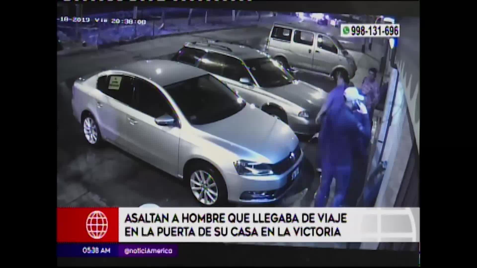 La Victoria: asaltan a hombre en la puerta de su vivienda