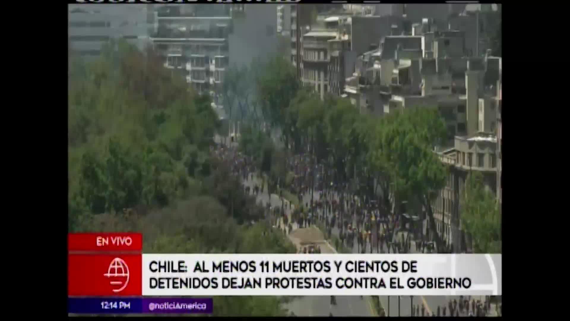 Chile: nuevas imágenes sobre feroz protesta contra el gobierno