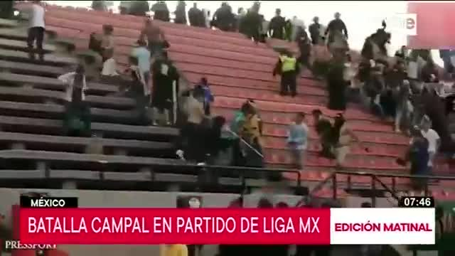 Batalla campal en el fútbol mexicano