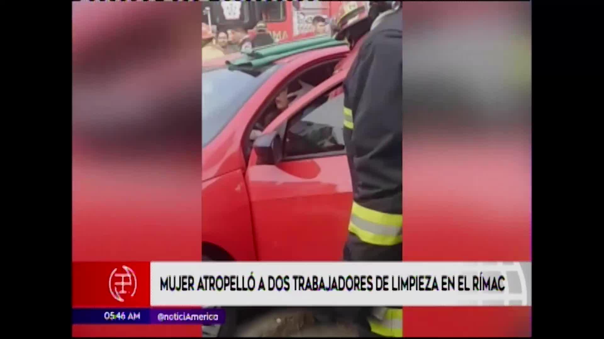 Rímac: dos trabajadores de limpieza resultan heridos por imprudente conductora