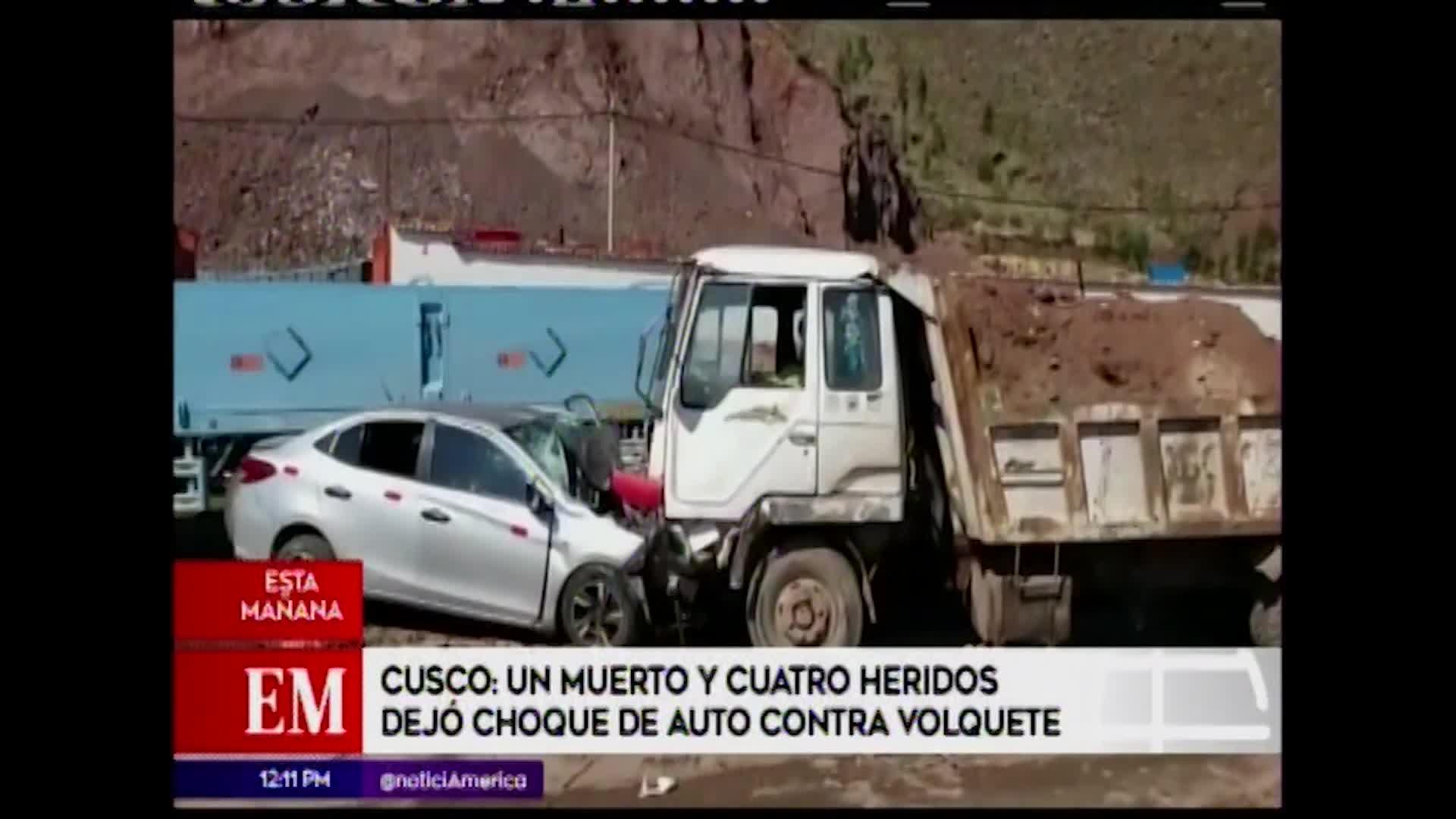 Cusco: violento choque deja un muerto y cuatro heridos