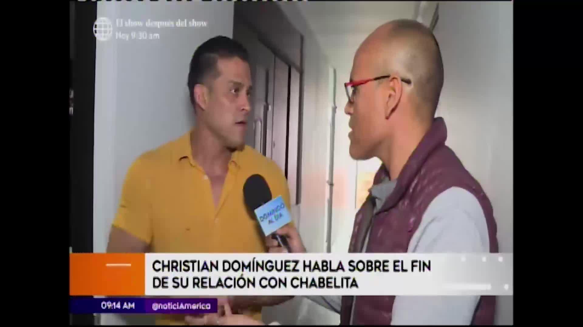 "Christian Domínguez: ""Isabel se liberó de esta cruz grande que soy"""