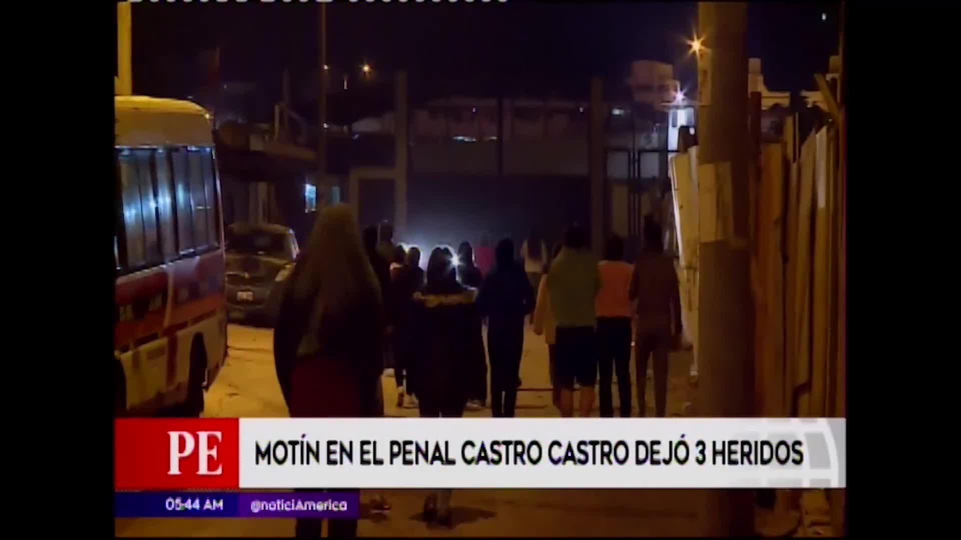 SJL:  tres reos resultan heridos tras motín en penal Castro Castro