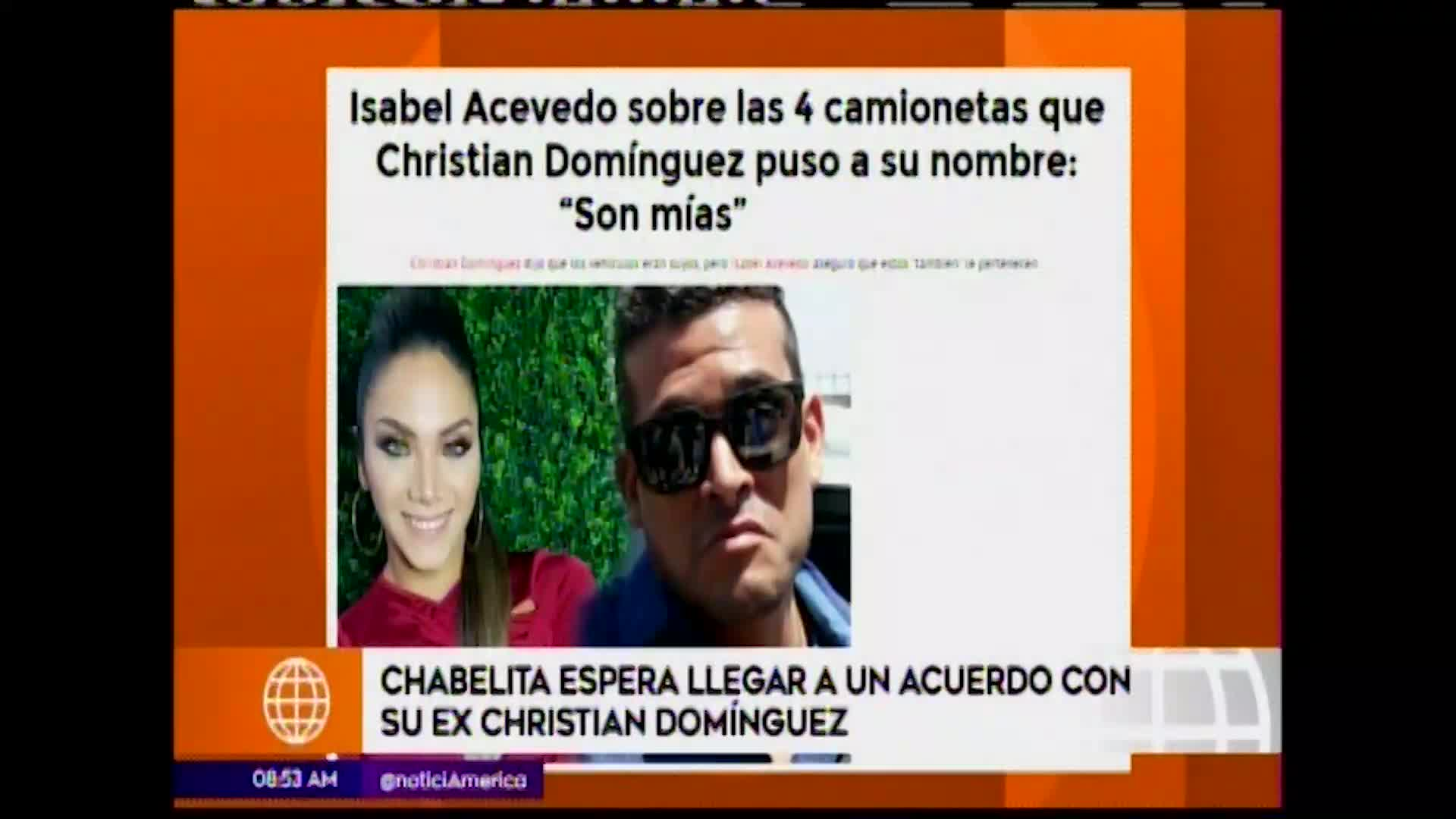 EBT: Isabel Acevedo aclara que aún tiene temas legales con Christian Domínguez