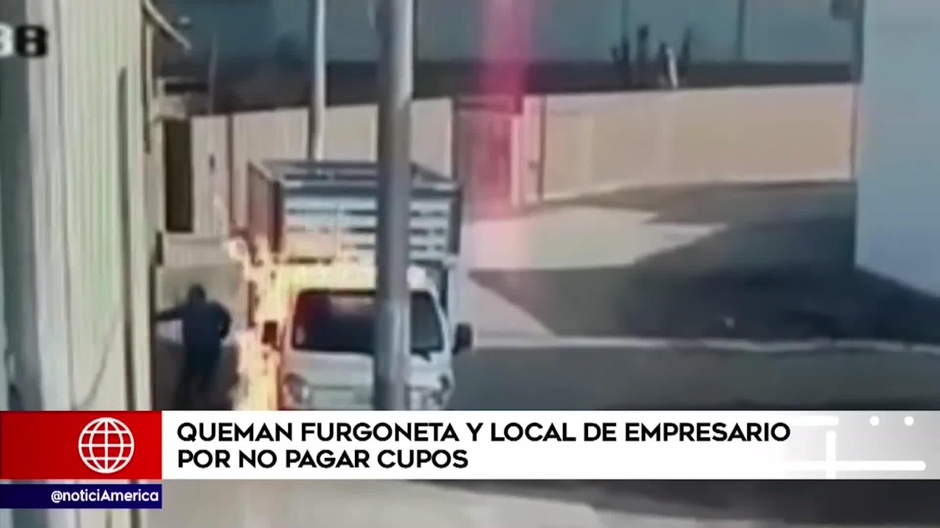 Puente Piedra: delincuente quema camión y local de empresario que se niega a pagar cupos