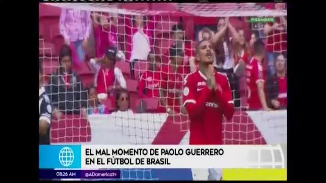 Paolo Guerrero afronta mala racha en Internacional