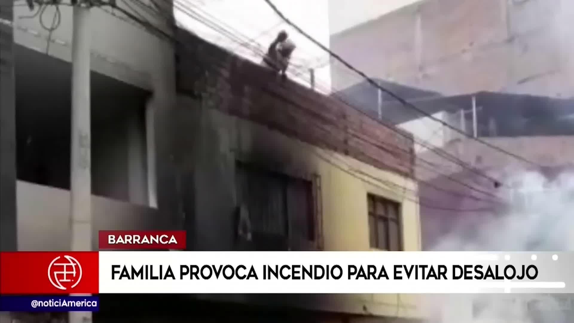 Barranca: familia evita desajolo ocasionando fuerte incendio