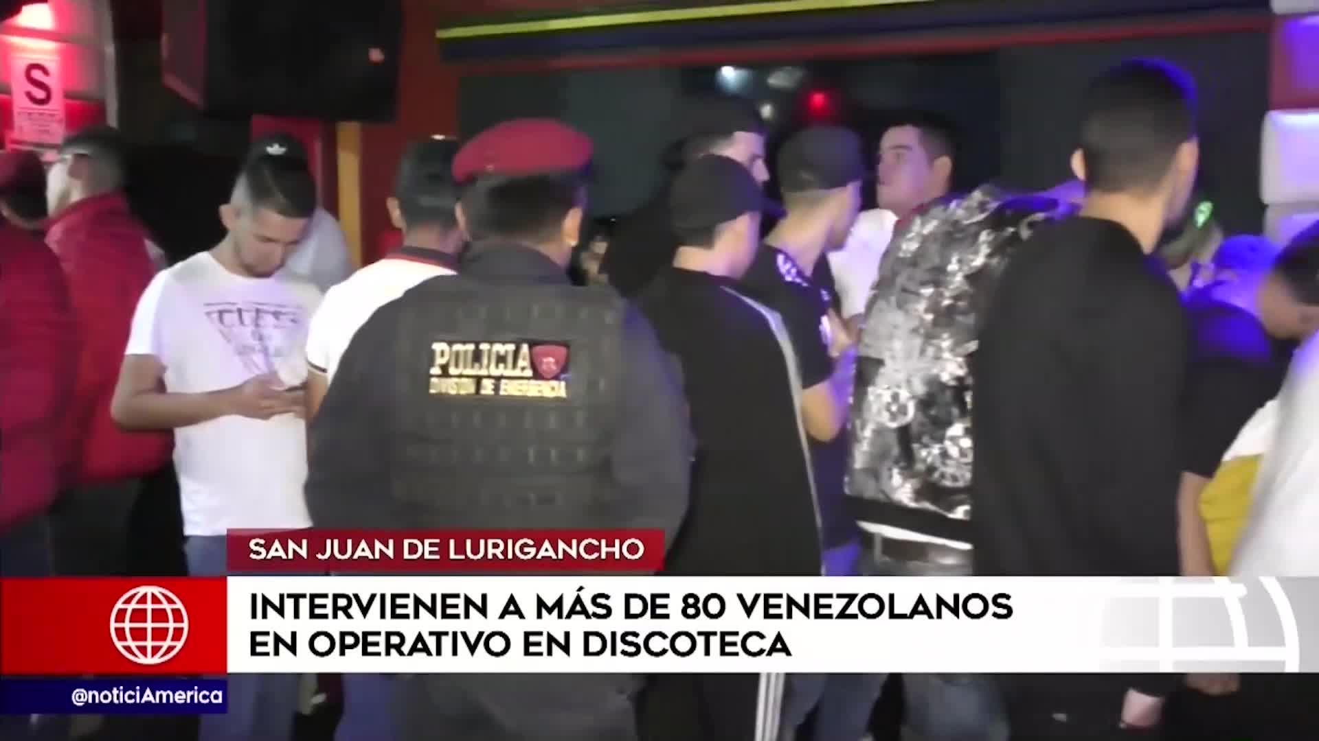 SJL: venezolanos son intervenidos en operativo en discoteca