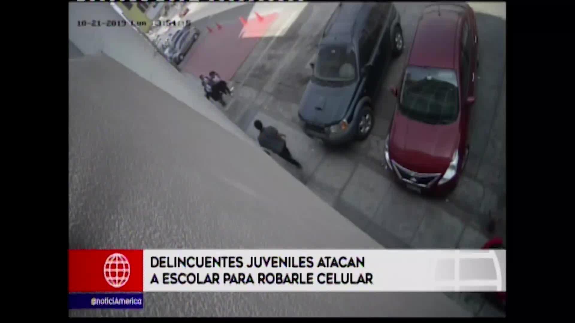 Grupo de escolares fueron atacadas con un cuchillo
