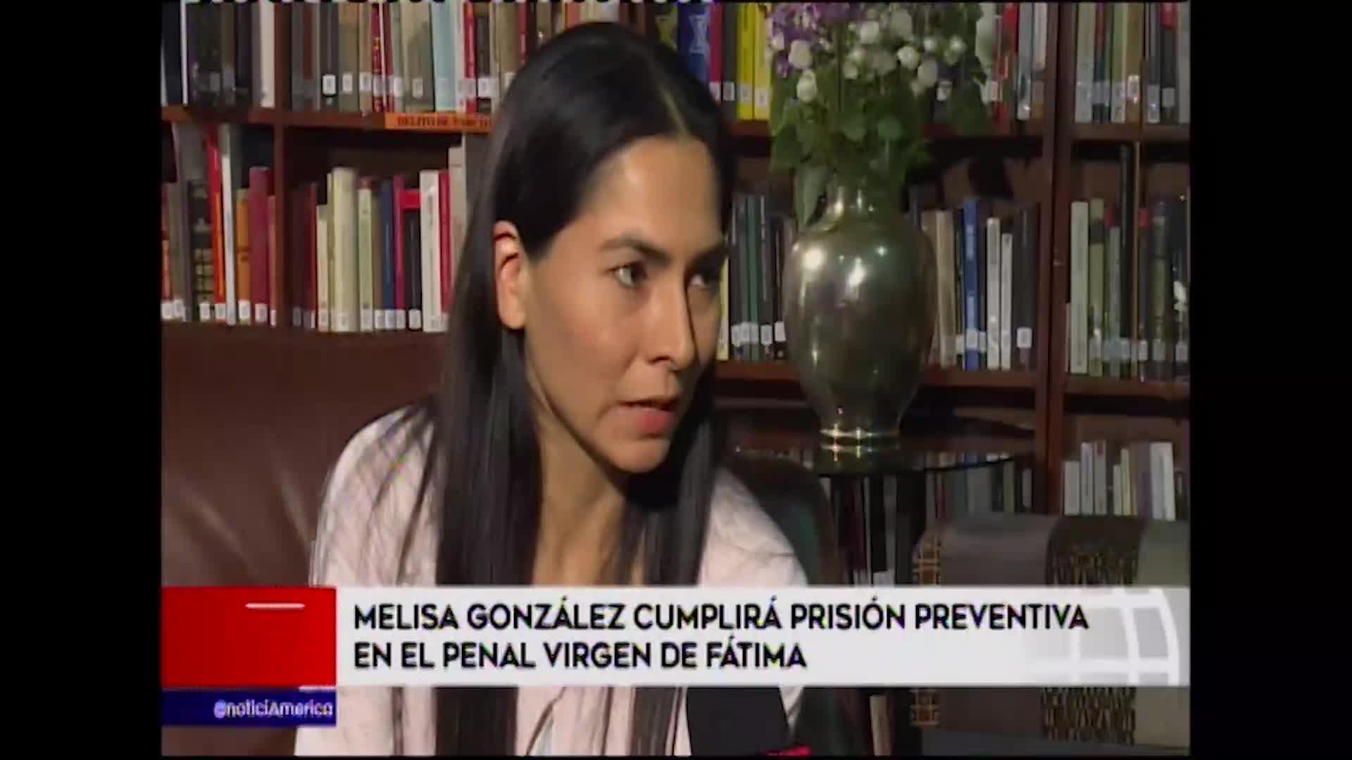 Melisa González fue trasladada al penal Virgen de Fátima donde cumplirá prisión preventiva