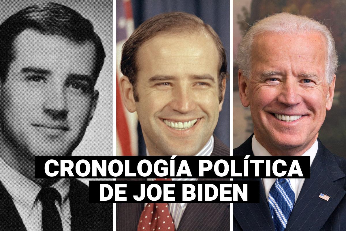 Joe Biden: la cronología de su carrera política