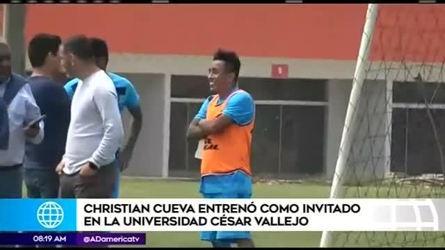 Christian Cueva vuelve a los entrenamientos